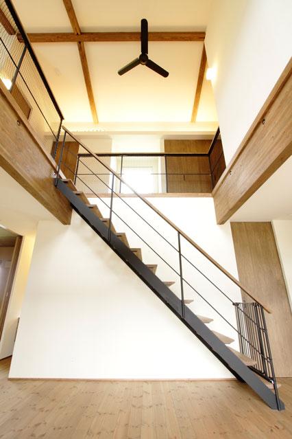 踏込板のないストリップ階段